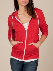 Alternative Apparel Ladies Full Zip Hoodie Rocky Eco True Red Hoody