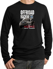Ford Truck Long Sleeve Thermal - F-150 4X4 Offroad Machine Black Shirt