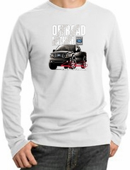 Ford Truck Long Sleeve Thermal - F-150 4X4 Offroad Machine White Shirt