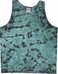 Crinkle Green Loud Mens Adult Tie Dye Tanktop Tank