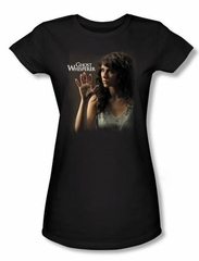 Ghost Whisperer Juniors T-shirt Ethereal Girly Black Tee