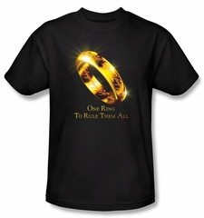The Lord Of The Rings T-Shirt One Ring Adult Black Tee Shirt