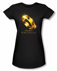 The Lord Of The Rings Juniors T-Shirt One Ring Black Tee Shirt