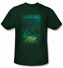 The Lord Of The Rings T-Shirt Lost Ring Hunter Green Tee Shirts