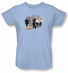 CSI: Miami Ladies Shirt Miami Cast Light Blue T-Shirt