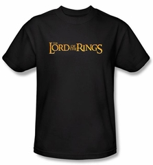 The Lord Of The Rings T-Shirt LOTR Logo Adult Black Tee Shirt