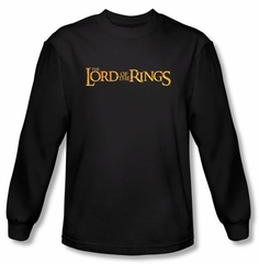 The Lord Of The Rings Long Sleeve T-Shirt LOTR Logo Black Tee Shirt