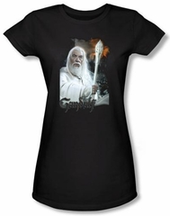 The Lord Of The Rings Juniors T-Shirt Gandalf Black Tee Shirt