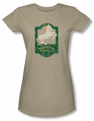 Lord Of The Rings Juniors Shirt Prancing Pony Sign Safari Green Tee