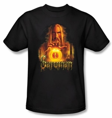 The Lord Of The Rings T-Shirt Saruman Adult Black Tee Shirt