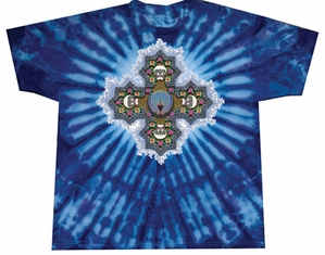 PHIL'S MANDALA Adult Tie Dye Rock T-shirt