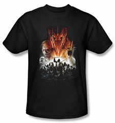 The Lord Of The Rings T-Shirt Evil Rising Adult Black Tee Shirt