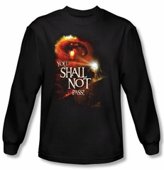 The Lord Of The Rings Long Sleeve T-Shirt You Shall Not Pass Black Tee