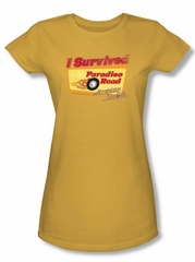 American Graffiti Juniors T-shirt Movie Paradise Road Gold Tee Shirt