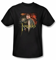 The Lord Of The Rings T-Shirt Frodo Adult Black Tee Shirt