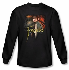 The Lord Of The Rings Long Sleeve T-Shirt Frodo Black Tee Shirt