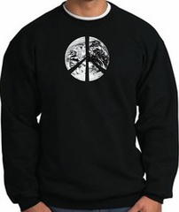 Peace Sweatshirt Peace Earth Satellite Image Sweatshirt Black