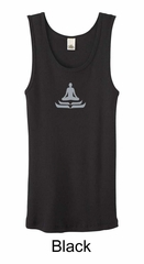 Ladies Yoga Tank – Lotus Pose Meditation Organic Tanktop