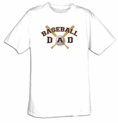 Baseball Dad Father Adult T-shirt Tee Shirt