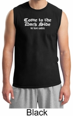 Funny Shirt Come To The Dark Side We Have Cookies Adult Muscle Shirt