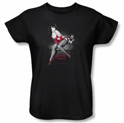 Betty Bettie Page Ladies Shirt Monkey Business Black T-shirt