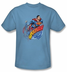 Superman Kids T-shirt Up Up And Away Youth Carolina Blue Tee