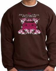 Ford Mustang Sweatshirt - Girls Run Wild Adult Brown Sweat Shirt