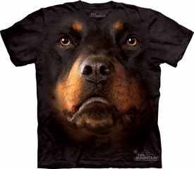 Rottweiler Shirt Dog Face T-shirt Tie Dye Adult Tee