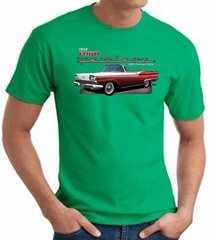 Ford Fairlane 1959 T-Shirt 500 Convertible Kelly Green Tee Shirt