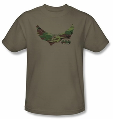 Batman T-Shirt - Camo Knight Adult Safari Green Tee