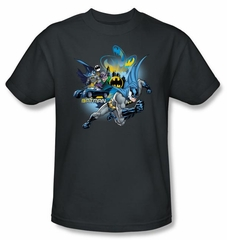 Batman T-Shirt - Call Of Duty Adult Charcoal Gray Tee