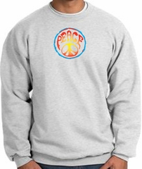 PSYCHEDELIC PEACE World Peace Sign Symbol Adult Sweatshirt - Ash