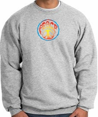Peace Sign Sweatshirt Psychedelic Peace Sweat Shirt Athletic Heather