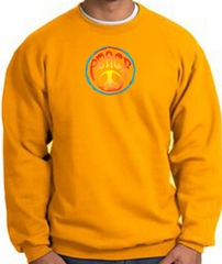 PSYCHEDELIC PEACE World Peace Sign Symbol Adult Sweatshirt - Gold