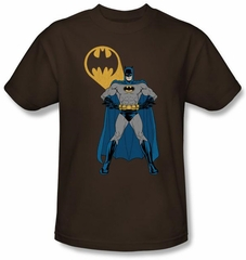 Batman T-Shirt - Arms Akmibo Bats Adult Coffee Brown Tee