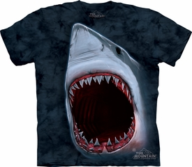 Shark Shirt Tie Dye Great White Bite Adult T-shirt Tee