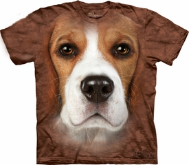 Beagle Shirt Tie Dye Dog Face T-shirt Adult Tee