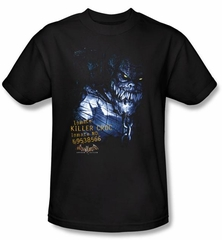 Batman T-Shirt - Arkham Killer Croc Adult Black