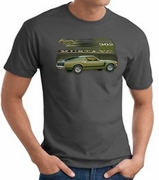 Ford Mustang Boss T-Shirts 302 Green Car 1970 Adult Tee Shirts