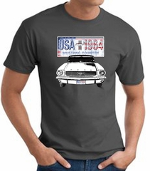 Ford Mustang T-Shirt - USA 1964 Country Adult Charcoal Tee Shirt
