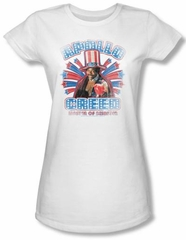 Rocky Juniors T-Shirt Apollo Creed Classic White Tee Shirt