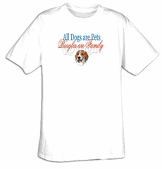 Beagle T-shirt - Beagles Are Family Dog Adult Tee Shirt