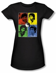Bruce Lee Juniors T-shirt Enter Color Block Black