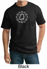 Mens Yoga Tall T-shirt Anahata Heart Chakra Adult Tee Shirt