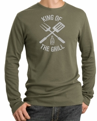 King Of The Grill Thermal Shirt Barbecue Utensils Adult Shirt