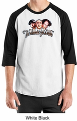 Three Stooges Raglan Shirt Funny Faces Adult Shirt