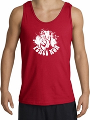 Peace Now Retro Vintage Classic Style Adult Tanktop - Red