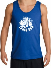Peace Now Retro Vintage Classic Style Adult Tanktop - Royal