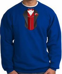 Tuxedo Sweatshirt With Red Vest  - Royal Blue