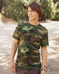 Code V Camouflage Adult Camo T Shirt Green Woodland